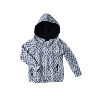 Bluza HOODIE ZIP / all gray dragon scales
