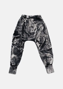 Spodnie 075 FRINGLE ACID PANTS black