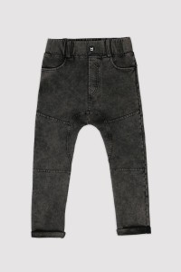 Spodnie PANTS MARBLE BLACK STRAIGHT