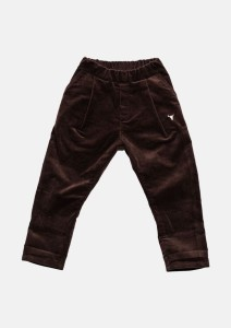 Spodnie 079 CORDUROY PANTS brown