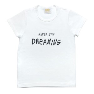 T-Shirt NEVER STOP DREAMING śmietankowy