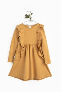 DRAGONFLY DRESS camel